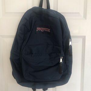 Navy Blue Jansport Backpack